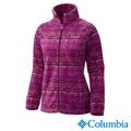 Columbia哥倫比亞-印花LOGO拉鍊外套-女用(紫紅色/UWL67690PD)