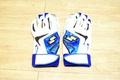 棒球世界 全新ssk 進口打擊手套 可水洗 特價 白藍配色