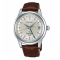 Seiko SBGJ017G Grand Seiko Hi Beat GMT Leather Strap Watch