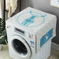 Washing Machine Cover Midea Haier Fully Automatic Roller Littleswan Panasonic Sun-resistant Cotton Linen Fabric Universal Dust Cover