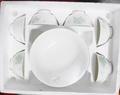 全新!大同彩宴六人份典雅花草瓷碗組/湯碗/餐具組/陶瓷組/瓷器組(6碗+1湯碗)