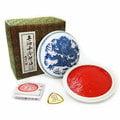 上海西泠-青花光明硃砂印泥150G(紅)-印台