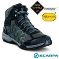 【義大利 SCARPA】男新款 Hydrogen Hike GORE-TEX 多功能防水透氣高筒登山健行鞋.登山鞋(Vibram黃金大底)/63335 深灰/湖水藍