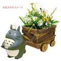 【真愛日本】 16022600032 花器-灰龍貓拉車 龍貓 TOTORO 豆豆龍 花器 擺飾 收納 正品