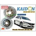 "Honda Stream disc brake rotor KAIDON (Front) type ""RS"" spec"