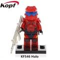 【積木班長】KF546 HALO 菁英戰士 紅色 最後一戰 槍戰 軍事 人偶 袋裝/相容 樂高 LEGO 積木