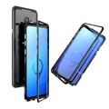 Luphie Magnetic Adsorption Aluminum Tempered Glass Protective Case For Samsung Galaxy S9/S9 Plus