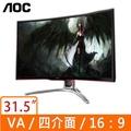AOC AGON 31.5吋曲面電競液晶螢幕 AG322FCX