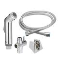Toilet Handheld Bidet Cloth Diaper Shattaf Shower Sprayer Spray Douche Kit w/ G1/2 T-Adapter