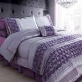 [AKEMI] Purple Roses Bedsheet+Comforter Set
