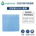 【綠能環控清淨網】車用冷氣空氣淨化濾網 適用HONDA:CIVIC 8代 (2006~2012年)