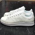 adidas STAN SMITH W 白色 全白 米白色 爆裂紋 壓紋 皮革 S76666