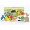 動物疊疊樂積木/平衡益智玩具/木質動物積木