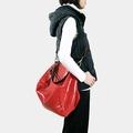 Influxx Qb真牛皮郵差包 – 手提、肩背、斜背三用包款 - 罌粟紅色