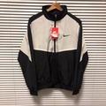 Nike 黑白 拼色 透氣 衝鋒 教練 風衣 外套