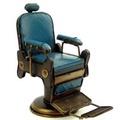 復古鐵皮老式理髮椅模型