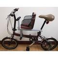 Mini復古折疊腳踏車+快拆親子座椅(二手)
