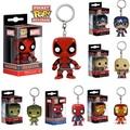 Funko Pocket Pop!Keychain Spiderman Deadpool Hulk Iron Man Captain Action Figure