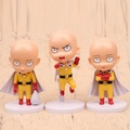 NEW hot 11cm 3pcs/set ONE PUNCH-MAN ONE PUNCH MAN Saitama action figure toys collection Christmas