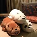 現貨 正版娃娃 抱枕 熊熊遇見你 we bare bears 胖達 阿極 名創優品miniso 三隻熊 北極熊 熊貓