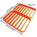 Roasting Racks for Pans - Oven Racks Cooking Racks for Oven Use - Roast Racks Nonstick - Orange by STAN BOUTIQUE - intl