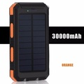 Solar 30000mah Waterproof Power Bank with FREE LAMP