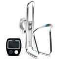 腳踏車數位里程記數器鋁合金水壺架組(20-7)