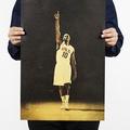 懷舊復古經典牛皮紙海報壁貼咖啡館裝飾畫仿舊掛畫●籃球NBA美國職籃系列-Kobe Bryant柯比·布萊恩E款