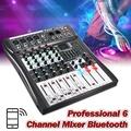 LEORY Profissional 6 Channel DJ Mixer Controller Metal DJ Mezclador With USB bluetooth LED Screen DJ Console Wireless For Audio Black - intl