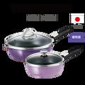 可拆式全能平底鍋(L)(S)葡萄園色  日本原裝不沾鍋 日本製平底鍋 深型平底鍋 日本製可拆式把手不沾鍋 (L)約1.1kg /(S)約0.8kg