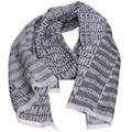 MOSCHINO品牌字母LOGO義大利製設計羊毛披肩/圍巾(灰)