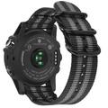 Fintie Band for Garmin Fenix 5X Plus/Fenix 3 HR Watch, Premium Woven Nylon Bands Adjustable Replacement Strap for Fenix 5X/5X Plus/3/3 HR Smartwatch - Black/Gray