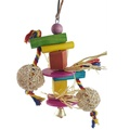 นกเคี้ยวของเล่นไม้การฝึกอบรมของเล่นเคี้ยวนกแก้ว BIRD ของเล่นแบบแขวนนกแก้วของเล่น