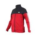 (男) UNDER ARMOUR SPORTSTYLE PIQUE 外套-立領外套 慢跑 紅黑白
