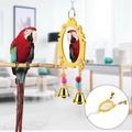 นกแก้วของเล่นกระจกของเล่นแขวนนกแก้วของเล่น Parrot ของเล่น