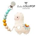 加拿大 Loulou lollipop 草泥馬造型 固齒器組/奶嘴鍊夾-民族風