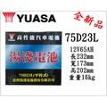*電池倉庫*全新湯淺YUASA汽車電池 加水75D23L(55D23L加強)