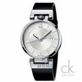【錶飾精品】CK錶/CK手錶/CK表 超凡系列 時尚型男 夜光 日期 上龍頭 白面黑皮帶男錶K4A211C6