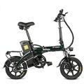 FIIDOL148V250W14,5hXe đạp gấp 14 inch Xe đạp điện 25km / h Tối đa 90KM Xe đạp điện Sốdặm