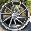 全新類Vossen 17吋吋槍灰色5孔112旋風式鋁圈