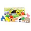 現貨‼️木製森林動物蹺蹺板 積木疊疊樂 寶寶平衡木 積木 寶寶早教益智玩具