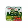 日本【貝親Pigeon】黃綠色蔬菜葡萄汁鋁箔包 (125mlx3入)