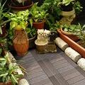 【貝力地板】太陽神DIY塑木止滑地板-1P4棕色H型(9片/箱)