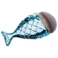 Sunyoo-New Luxury Creative Mermaid Fish Tail Shape Makeup Brush Foundation Face Contour Brush Blue -