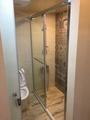 大台北宅急修~乾濕分離~淋浴拉門8mm(無框) +浴缸拆除+廢棄物清運+防水處理+磁磚回貼