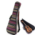 Soft Pad Cotton Folk Style Hand Portable Bag Case Cover for 23 inch Ukulele