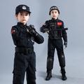 兒童特種兵迷彩軍裝小交警特te警服衣服真人cs野戰裝備小警察制服