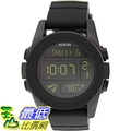 [105美國直購] Nixon Men's 男士手錶 Unit A197000 Black Polyurethane Quartz Watch