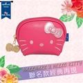 【唯愛日本】14093000002 拉鍊零錢包-淘氣凱蒂粉 三麗鷗 Hello Kitty 凱蒂貓 錢包 包包