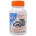 (แบบซอร์ฟเจล) โคเอนไซม์คิวเท็นเข้มข้น, Doctor's Best, High Absorption CoQ10, 100 mg